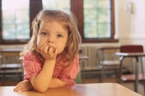 Little Girl in Classroom