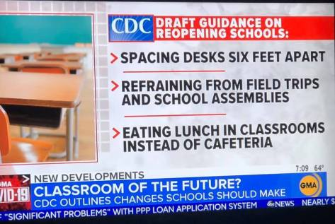 CDC Guidelines for Schools 2020